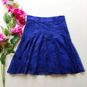 H&M Blue Lace Mini Skirt
